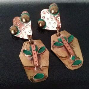 Jewelry - Vintage Screw Back Earrings Mexico